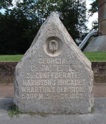 Georgia 3d Confederate Cavalry Marker image. Click for full size.