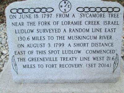 Greenville Treaty Line Marker image. Click for full size.