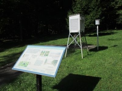Weather Station Marker and Equipment image. Click for full size.
