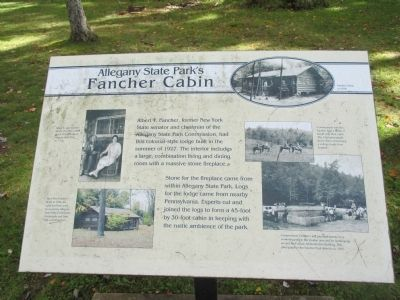 Allegany State Park's Fancher Cabin Marker image. Click for full size.