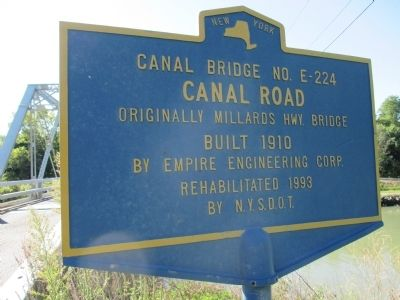 Canal Bridge No. E-224 Marker image. Click for full size.