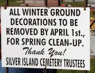Silver Island Cemetery - Rules & Regs. image. Click for full size.