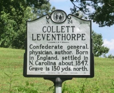 Collett Leventhorpe Marker image. Click for full size.