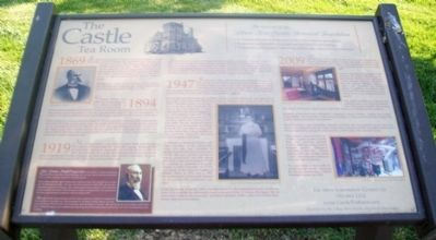 The Castle Tea Room Marker image. Click for full size.