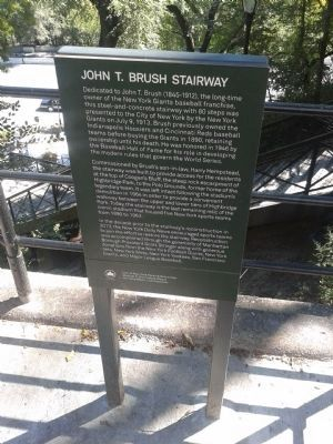 The John T. Brush Stairway Marker Photo, Click for full size