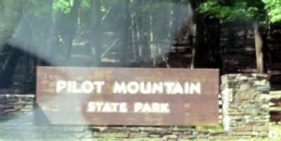 Sign at the entrance to Pilot Mountain State Park image. Click for full size.