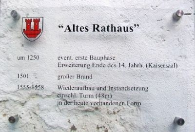 Altes Rathaus / Old Town Hall Marker image. Click for full size.