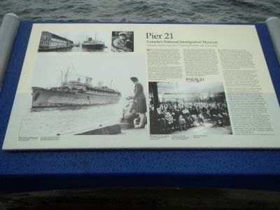 Pier 21 Marker image. Click for full size.