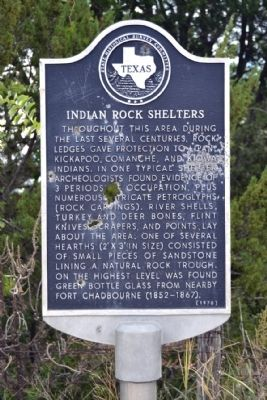 Indian Rock Shelters Marker image. Click for full size.