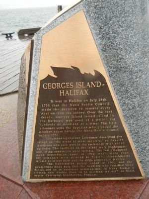 Georges Island - Halifax Marker image. Click for full size.