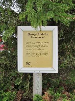 George Halada Farmstead Marker image. Click for full size.
