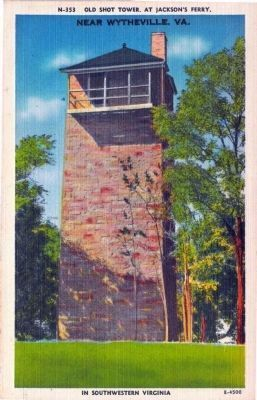 N-353 Old Shot Tower, At Jackson�s Ferry in Southwestern Virginia Photo, Click for full size