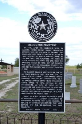 Drummond Cemetery Marker image. Click for full size.