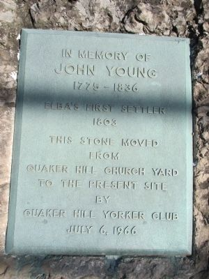 In Memory of John Young Marker image. Click for full size.