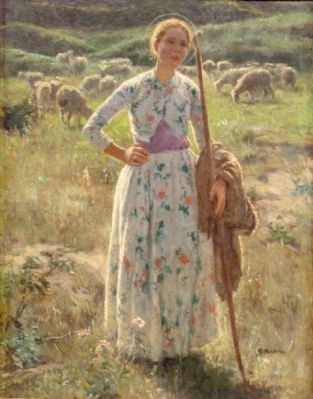 Joan of Arc by Gari Melchers image. Click for full size.