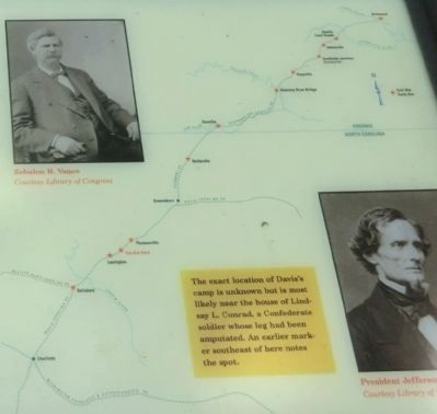 Close up of the map on the Pine Grove Camp Marker image. Click for full size.