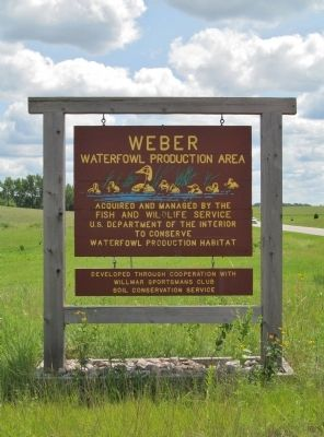 Weber Waterfowl Production Area Sign image. Click for full size.