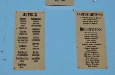 List of Artists, Contributors, and Volunteers image. Click for full size.