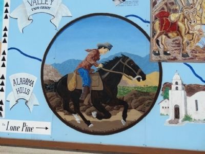 Wedding of the Waters Pageant Marker - Inset, Pony Express Type Rider image. Click for full size.