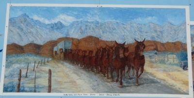 Death Valley 20 Mule Team Borax Driver - Johnny O'Keefe image. Click for full size.