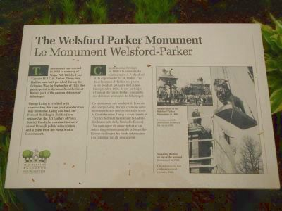 The Welsford Parker Monument Marker image. Click for full size.