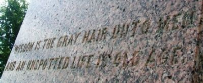 Frank R. Firth Monument Inscription image. Click for full size.