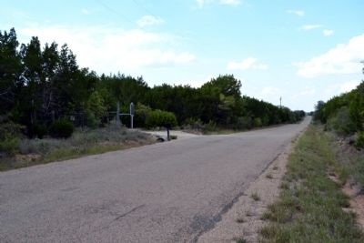 View to North Along Old Coleman Highway image. Click for full size.