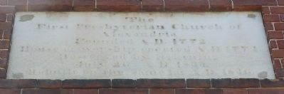 """Old Presbyterian Meeting House"" - Marker Panel 1 image. Click for full size."
