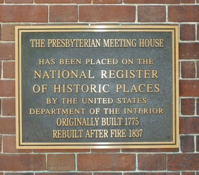 """Old Presbyterian Meeting House"" Marker Panel 3 image. Click for full size."