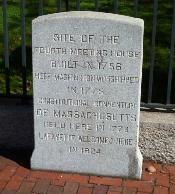 Fourth Meeting House Marker image. Click for full size.