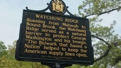 Watchung Ridge Marker image. Click for full size.