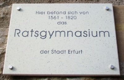 Ratsgymnasium / Council Secondary School Marker image. Click for full size.