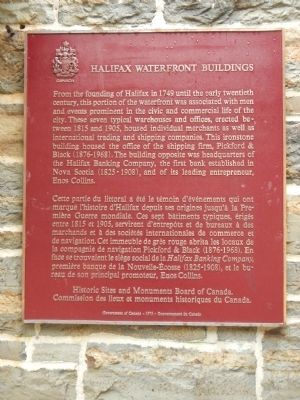 Halifax Waterfront Buildings Marker image. Click for full size.