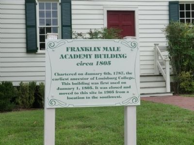 Franklin Male Academy Building Marker image. Click for full size.