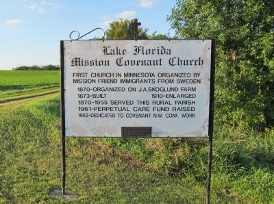 Lake Florida Mission Covenant Church Marker image. Click for full size.