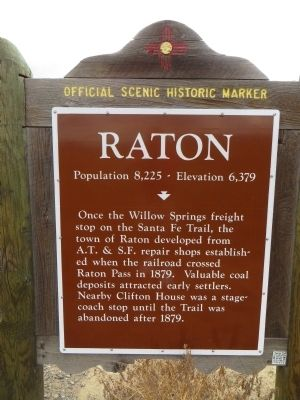 Raton Marker image. Click for full size.
