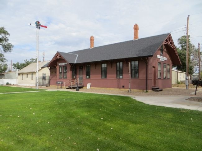 The Kit Carson Railroad Depot image. Click for full size.