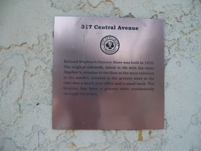 317 Central Avenue Marker image. Click for full size.