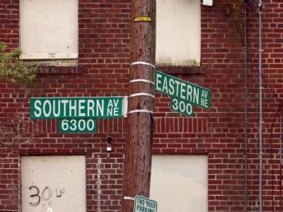 Corner of Eastern and Southern Avenues North East image. Click for full size.