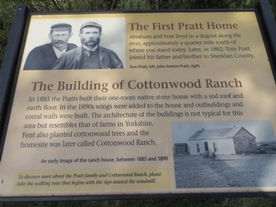 Pratt Home & Cottonwood Ranch Marker image. Click for full size.