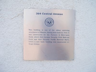 364 Central Avenue Marker image. Click for full size.
