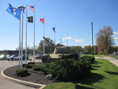 Dedicated to All Military Veterans Memorial - Westward image. Click for full size.