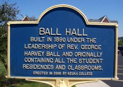 Ball Hall Marker image. Click for full size.