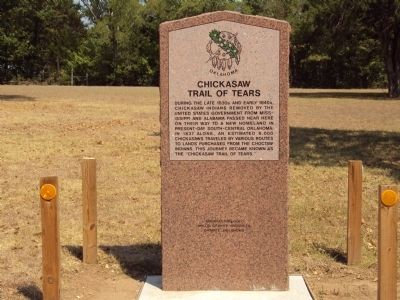 Chickasaw Trail of Tears Marker image. Click for full size.