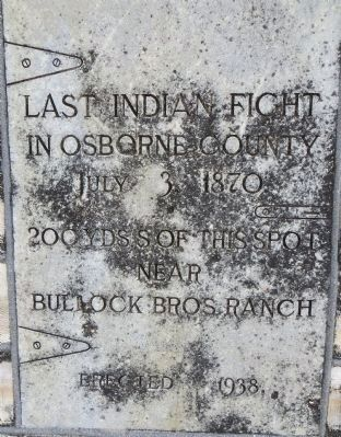 Last Indian Fight in Osborne County Marker image. Click for full size.