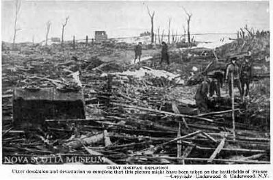 Great Halifax Explosion image. Click for full size.