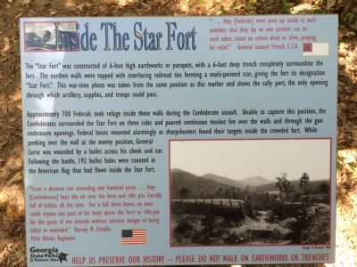 Inside the Star Fort Marker image. Click for full size.