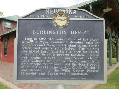 Burlington Depot Marker image. Click for full size.