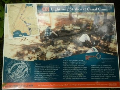 Lightning Strikes at Canal Camp Marker image. Click for full size.