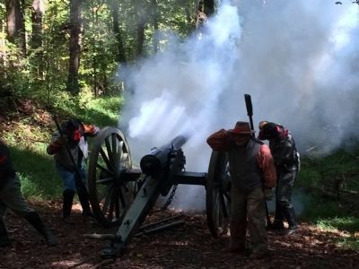 Reenactment of Cannon Fire image. Click for full size.